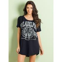 Vestido Camiseta Esportivo Moda Larguinho Plus Size Barato