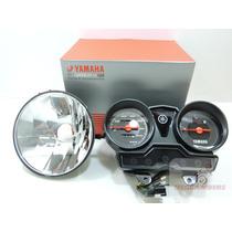 Painel + Bloco Optico Farol Aro Original Yamaha Ybr Factor