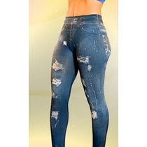 Leggins Jeans Mujer Original Levanta Reafirma Gluteos Pierna