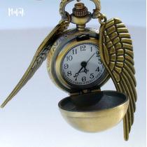 Collar Reloj Snitch Dorada Golden Harry Potter Hp