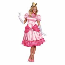 Disfraz Para Mujer Princesa Peach Super Mario Bros