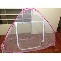 Mosquiteiro Solteiro 90 X 190 Cm Com Base Fechado Rosa