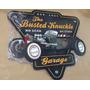 Placa Decorativa Mdf Busted Knuckle Loja Artigos Carros Eua