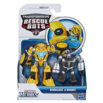 Héroes Playskool Transformer Al Rescate Bumblebee Y Morbot