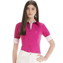 Camisa Manga Curta Modelo 3/4 Principessa Viviana Pink