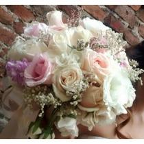 Ramo De Novia Tipo Vintage Con Flores Naturales