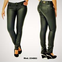 Calça Jeans Feminina Legging Resinada Sawary Preta Promoção!