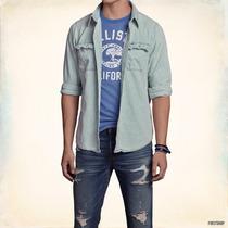 Camisa Jeans Hollister Victoria Beach Denim Shirt Talla L
