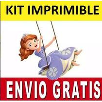 Kit Imprimible Princesa Sofia Diseñá Tarjetas Invitaciones