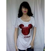 Blusas Blusones Camisas Franelas De Mickey Sirve A Gordita