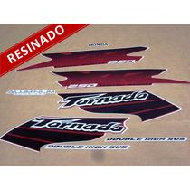 Kit Adesivos Xr 250 Tornado 2003 Vermelha - Resinado Decalx