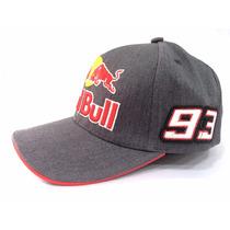 Boné Red Bull Marc Marquez Motogp Cinza Branco Original Novo