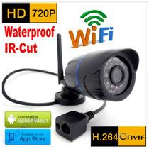 Câmera Ip Externa Wi-fi + Fonte 12v 2a 720p H.264 Onvif Hd