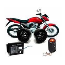 Alarme E Som P/ Moto Mp3 Usb Sd Radio Fm Controle Remoto