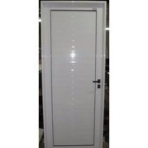 Puerta Aluminio 60 X 200 Blanco Ciega Reforzada
