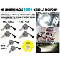 Kit Super Led Corolla Farol + Milha 08 09 10 2011 2013 2012