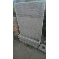 Muro Lloron De Cantera Negro 1.45m X1m