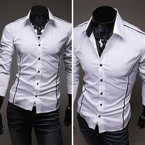 Camisa Social Slim Fit Luxo Importada - Frete Grátis!