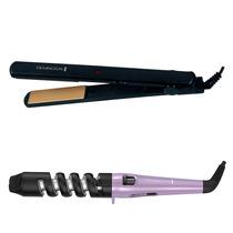 Kit Remington Plancha S1001 + Buclera C163 3 Estilos En 1