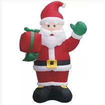 Papai Noel Gigante Inflavel 2,40m 110v Festas Nata Decoração
