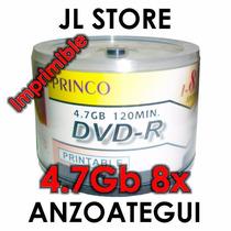 Dvd Virgen Printeable 16x 4.7gb Princo X Unid (imprimible)