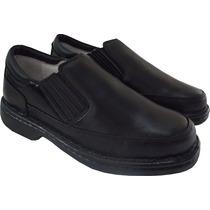 Sapato Masculino Conforto, Antistress, Couro, Diabético, Top