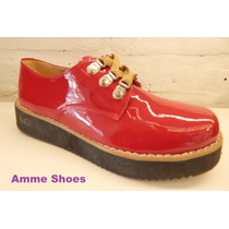 Mocasines Acordonados Mujer Guillermina Sandalia Amme Shoes