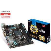 Motherboard Msi Am1i Mini Itx Pc Amd Usb 3.0 Hdmi Full Hd