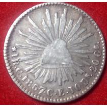 Moneda 1 Real Culiacán 1857/4 C E Águila Sonora Escasa