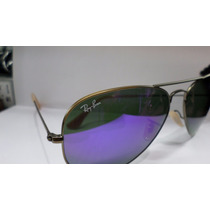 Ray Ban Aviator Rb3025 167/1m 58-14 Bronze Violet Original