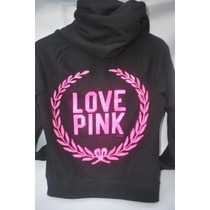 Victoria Secret Pink Hoodie Sudadera Chamarra Lentejuela