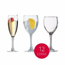 Copas X12 Princesa Arcoroc Vino Agua Champagne Templada