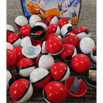 Mini Pokebola 4cm + Miniatura Pokemon + Mini Card