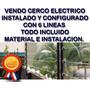 Cerco Electrico Todo Incluido Material E Instalacion 60 Mts