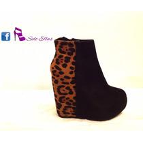 Botinetas Taco Escondido Animal Print Sweet Shoes
