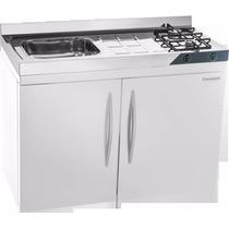 Mini Cozinha Compact 4x1 Pia,fogão,geladeira,armário