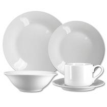 Aparelho Kit Jogo De Jantar 20 Pçs Branco Louça Porcelana