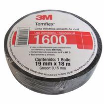 Cinta Aislar Temflex 1600 Con 18 M Negra Marca 3m 1600 N