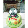 Torta Infantil Plantas Vs Zombies Zona Sur Envios!