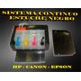 Sistema Continuo Lleno Full Tinta Hp Canon Caja Negra