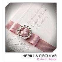 25 Hebillas Circulares Plateadas Invitaciones