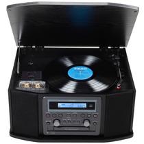 Toca-discos Teac Gf-550 Usb Lp K7 Fm Com Função De Gravação