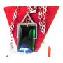 Colgante Art Deco Alpaca+cadena Plata/cristal Verde/strass