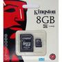 Micro Sd 8gb Kingston Microsd 100% Original Selladas