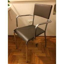 Cadeira Design Casa Escritorio Tok Stok Etna Marrom Fixa