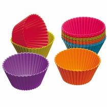 Forma Silicone Cupcake Pudins Mini Bolos Kit 12 Unidades