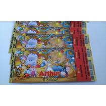 Convite Aniversário Ingresso - Ursinho Pooh - 50 Unidades