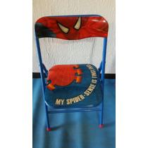 Mesa Con Sillas Niños Spider Man Hombre Araña