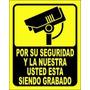 Avisos De Camaras De Seguridad En Vinil Auto-adhesivo
