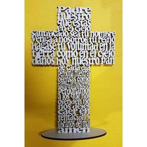 Cruz Padre Nuestro 25 Cm Fibrofacil Comunión Regalo Souvenir
